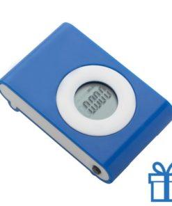 Pedometer stappenteller blauw bedrukken