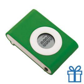 Pedometer stappenteller groen bedrukken