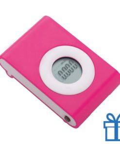 Pedometer stappenteller roze bedrukken