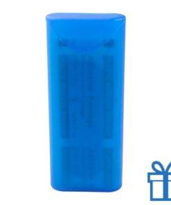 Peisters in doosje blauw bedrukken
