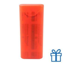 Peisters in doosje rood bedrukken
