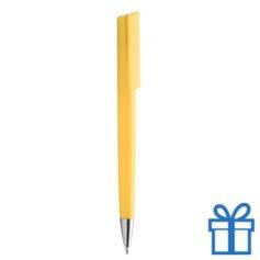 Pen chromen tip geel
