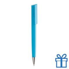 Pen chromen tip lichtblauw