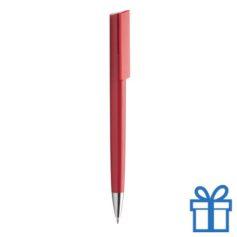 Pen chromen tip rood