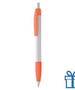 Pen gekleurde clip plus grip oranje
