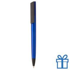 Pen metalen afwerking blauw