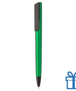 Pen metalen afwerking groen