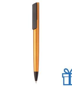 Pen metalen afwerking oranje