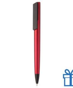 Pen metalen afwerking rood