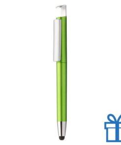Pen stylus mobielhouder groen