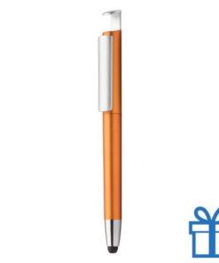 Pen stylus mobielhouder oranje
