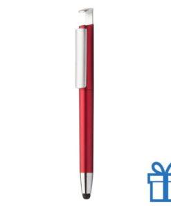 Pen stylus mobielhouder rood