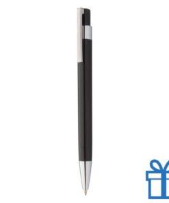 Pen zilveren clip zwart