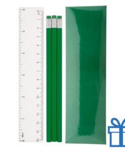 Pennenset 4-delig groen bedrukken