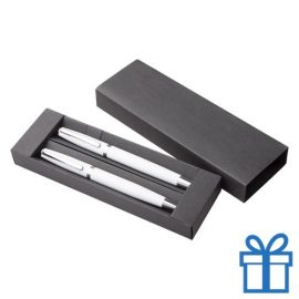Pennenset aluminium wit