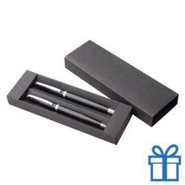 Pennenset aluminium zwart
