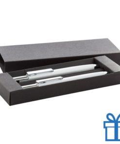 Pennenset zwarte geschenkdoos wit