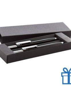 Pennenset zwarte geschenkdoos zwart