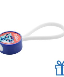 Personaliseerbare sleutelhanger blauw deel 1 van 2 bedrukken