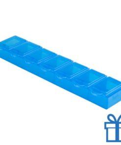 Pillen doos week blauw bedrukken