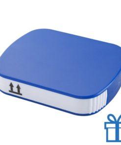 Pillendoosje 4-vaks blauw bedrukken