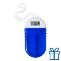 Pillendoosje alarm blauw bedrukken