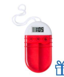 Pillendoosje alarm rood bedrukken
