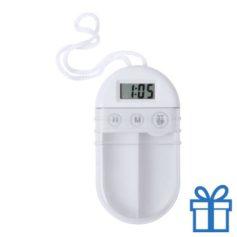 Pillendoosje alarm transparant wit bedrukken