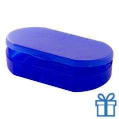 Pillendoosje goedkoop blauw bedrukken