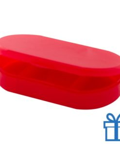 Pillendoosje goedkoop rood bedrukken