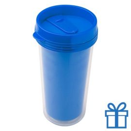 Plastic drinkbeker grafisch 450ml blauw bedrukken
