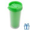 Plastic drinkbeker grafisch 450ml groen bedrukken