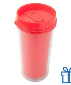 Plastic drinkbeker grafisch 450ml rood bedrukken