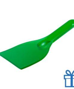 Plastic ijskrabber goedkoop groen bedrukken
