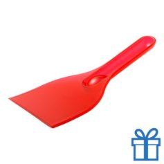 Plastic ijskrabber goedkoop rood bedrukken