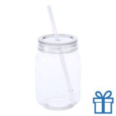 Plastic jar drinkbeker transparant bedrukken