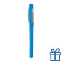 Plastic marker met grip blauw bedrukken