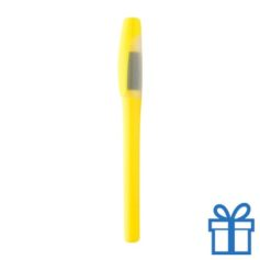 Plastic marker met grip geel bedrukken