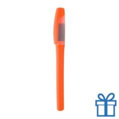 Plastic marker met grip oranje bedrukken