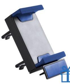Plastic mobiele telefoonhouder blauw bedrukken