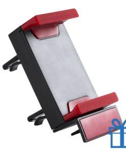 Plastic mobiele telefoonhouder rood bedrukken