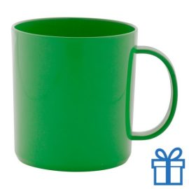 Plastic mok groen bedrukken