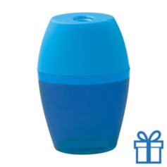 Plastic puntenslijper opvangbakje blauw