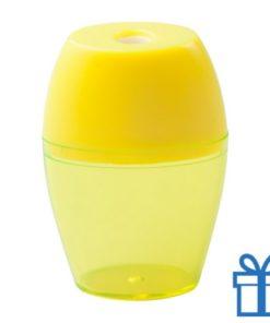 Plastic puntenslijper opvangbakje geel
