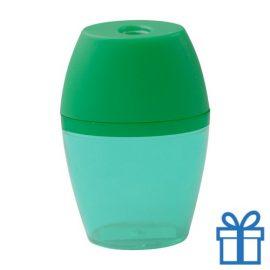 Plastic puntenslijper opvangbakje groen