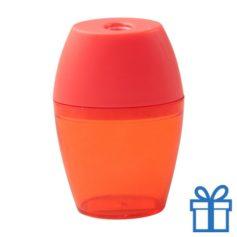 Plastic puntenslijper opvangbakje rood