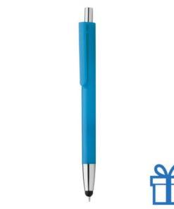 Plastic touch balpen gekleurde loop lichtblauw bedrukken
