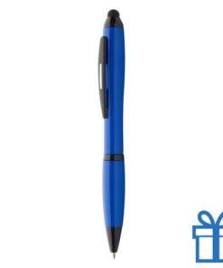 Plastic touch screen balpen blauw