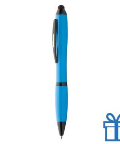 Plastic touch screen balpen lichtblauw