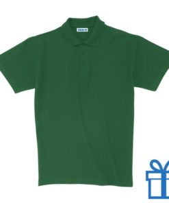 Polo unisex houtlook XL groen bedrukken